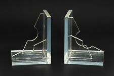 Vintage Abstract Modern MCM Lucite Acrylic Sculptures Bookends Eames