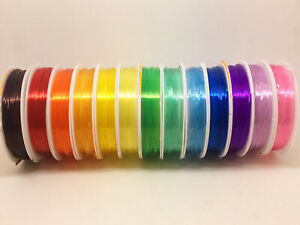 Crystal Tec Elastic - 1mm thick, approx 6m length - silicone jelly stretchy cord