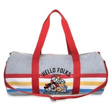 Disney Store Mickey Mouse and Friends Heather Gray Duffel Gym Bag New with Tags