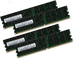 4x 4GB 16GB ECC RAM Speicher HP Workstation XW9400 G6 667 Mhz Registered EV284AA