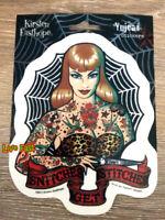 HEAVEN AND HELL PIN UP GIRL DECAL STICKER rockabilly biker tattoo flash art