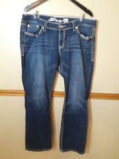 Seven 7  Women's Boot Cut Denim Stretch Jeans Plus Size 18 X 31 Embellish Pocket