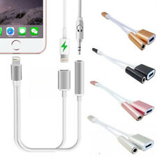 New 2 in1 Charger Cable Adapter Lightning to 3.5mm Audio For iOS12 iPhone 7 8 X