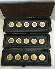 USSR & RUSSIA 1991–1994 REDBOOK OF WILDLIFE 15 Bi-metal Coins • FULL SET • UNC