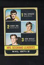 1972/73 Topps Hockey Scoring Leaders 363 *ORR ESPOSITO*