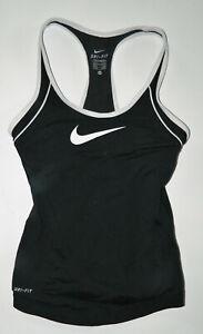 NIKE DRI-FIT women's juniors Black SPORTS BRA Athletic Tank Top* XS