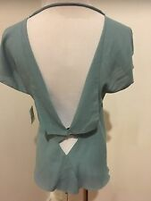 roland mouret women's draped cotton top blouse shirt Sz 4 US 38 IT 36 F $700