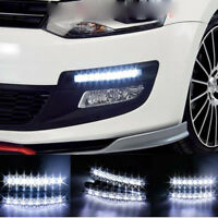 2x 8LED Car Head Lamp DRL Fog Light Driving Daylight Daytime Running LED New