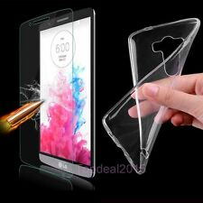 Tempered Glass Screen Protector 9H + Clear TPU Case Cover for Various Phones