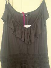 Black Summer Dress With Ruffle Flamenco Style Hem