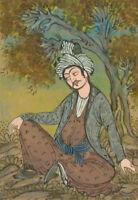 Indian Miniatures - Late 19th Century Gouache, Portrait of a Man