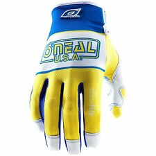 O'Neal Oneal Jump Ultra-Lite LE '83 motocross gloves blu/yel mens sz 10 large