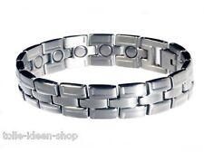 Magnet- Armband dreigliedrig aus Edelstahl  ca.19,4 cm