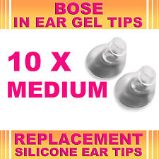 10x Reemplazo medio Gel para oreja de punta para Bose Triport auriculares Earbud In-ear Canal