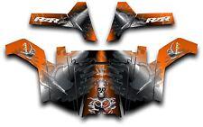 Polaris RZR 800 UTV Side x Side Graphics Decal Kit Wrap 2011 - 2014 Turbo Orange