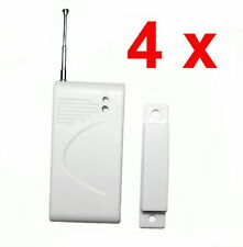 4 x Funk Türkontakt Fensterkontakt 433 MHz Sensor Melder für Alarmanlage
