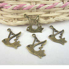 22pcs antiqued bronze flying bird pendant charm G601