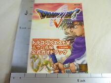 DRAGON QUEST V 5 Guide Book #2 PS2 SE5x*