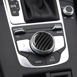 For 2014-2019 Audi A3 8V A4L B9 Real Carbon Fiber Center Console Knob Trim Cover
