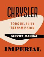 OEM Repair Maintenance Shop Manual Bound Chrysler Torque-Flite Transmission 1956