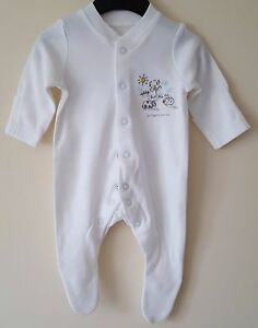"BABY BOYS GIRLS ""EX MAJOR  HIGH STREET"" BABYGROWS/VESTS WHITE WITHOUT MOTIF"