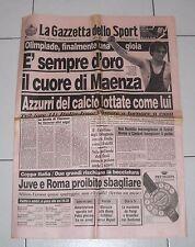 La Gazzetta dello sport OLIMPIADI SEUL 1988 Oro VINCENZO MAENZA 21 settembre