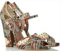 GORGEOUS !!! Tabitha Simmons 'fillippa' SNAKESKIN HIGH HEEL  sandals EU 39 US 9