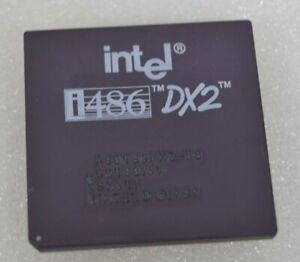 Intel OLD LABEL 486 DX 33MHZ A80486DX-33 SX419 i486 CPU Gold Vintage