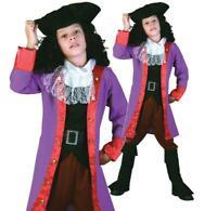 Boys Kids Book Week Day Pirate Costume Captain Hook Caribbean Fancy Dress Jack