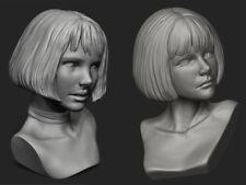 Resin Figure Kit Mathilda & Mindy Head Garage Resin Kit