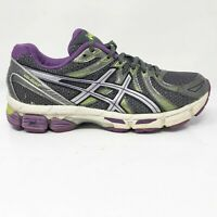 Asics Womens Gel Exalt T379N Gray Purple Running Shoes Lace Up Low Top Size 7.5