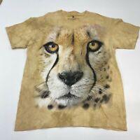 Smithsonian T Shirt Men's Large Short Sleeve Tan Tie Dye Crew Neck Leopard