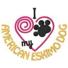 I Heart My American Eskimo Dog Ladies Short-Sleeved T-Shirt 1331-2 Size S-Xxl