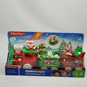 Fisher Price Little People Musical Christmas Holiday Train Music and Sounds New