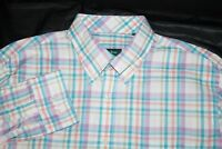 Bobby Jones Mens Long Sleeve Button Front Shirt Size Large