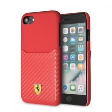 Genuine Ferrari Urban SF Carbon with Card Slot  Case Cover for iPhone 8 & 7