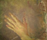 ANTIQUE AMERICAN IMPRESSIONIST HAND STUDY ANATOMICAL SKETCH OIL CANVAS PAINTING