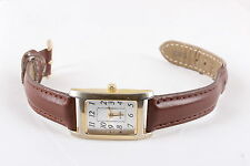 WHITE STAG RECTANGLE GOLDTONE WOMENS WORKING WRISTWATCH  6369