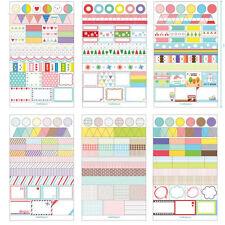 6pcs Art Calendar Paper Sticker Scrapbook Calendar Diary Planner Gifts Decor