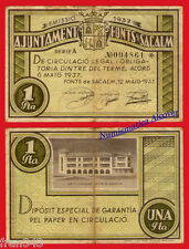 Billete local SANT HILARI FONTS DE SACALM 1 Peseta 1937 BC+ / F+