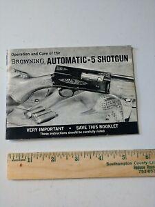 Vintage Original Browning Automatic-5 Shotgun Instruction Booklet