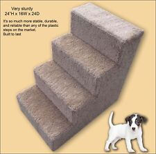 Sturdy Dog Steps, 24'H with paw prints. Pet Furniture, Dog stairs.