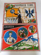 vintage tea towel CARAMANICO TERME - ABRUZZO  10O % LINEN 72½cm x 50½cm #1B