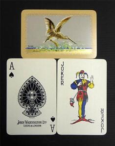 VINTAGE 1933 WADDINGTONS SPORTING BIRDS SNIPE FULL DECK PLAYING CARDS BARRIBEL