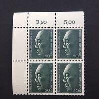 BRD 1976 4er Block Eckrand LO 100. Geburtstag Konrad Adenauer, Mi 876
