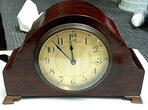 Vintage Bigelow, Kennard, & Co. Inc Boston Chelsea Desk/Mantel Clock Brass W/Key
