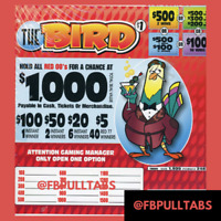 $1 EACH $415 PROFIT FREE SHIPPING 1935 PULL TABS FUNDRAISER THE BIRD