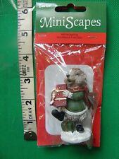 Darice MiniScapes ~ Mini Hedgehog ~ Christmas Figurine ~ Holding Gift & Basket