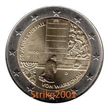 NEW !!! 2 EURO COMMEMORATIVO GERMANIA 2020 50° Genuflessione Varsavia fdc