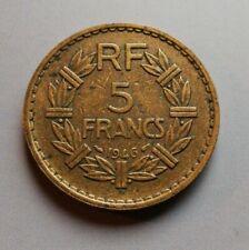 Pièce 5 Francs André LAVRILLIER Bronze Aluminium 1946